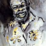 """Rufus Thomas Ink & Watercolor"" by GinetteCallaway"