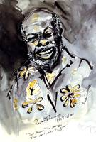 Rufus Thomas Ink & Watercolor