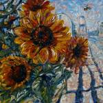 """Old Town Sunflowers"" by DLineGraphics"