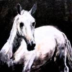 """Spirit Horse - Mixed Media by Ginette"" by GinetteCallaway"
