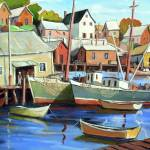 """Fishing village"" by GeorgesRichard"