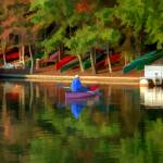 """Canoes on Lake Thoreau"" by ReidKasprowicz"