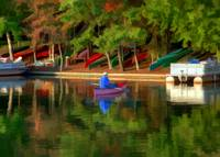 Canoes on Lake Thoreau