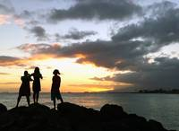Sunset Watchers on Waikiki