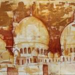 """""""Grand Mosque at Sunset"""" by rlhpainter"""