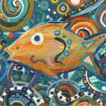 """Orange Fish"" by paintingsbygretzky"