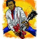 """Chuck Berry Lays It Down"" by tBaneArt"