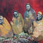 """13. Four Initiates w Symbolic Blankets Post Circum"" by GustavKaltenbrun"