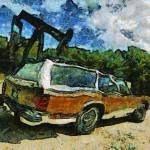 """Wagon at oil well"" by traversecity"