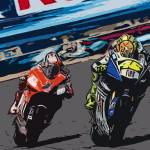 """Rossi and Stoner"" by dedeuce"