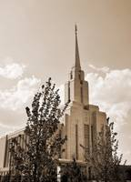 Oquirrh Mountain Temple shot august 2 sepia
