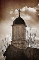 vernal temple spire moroni stat sepia reddish