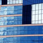 """Blue Building Abstract"" by bleij50"