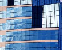 Blue Building Abstract