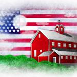 """Patriot Barn 1"" by kgedesign"
