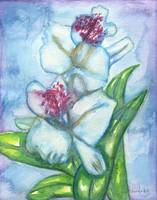 Orchid Flower Watercolor Painting Print