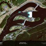 """Bonneville Dam, North Bonneville, Oregon"" by GeoEye"