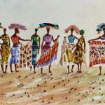 """Women selling mandingo clothes"" by artfrica"