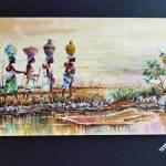 """Women carring water from the farm"" by artfrica"