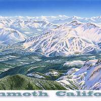 """Mammoth California"" by jamesniehuesmaps"