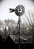 Rustic Windmill and Barn