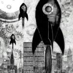 """Black Aluminium Rockets"" by kgedesign"