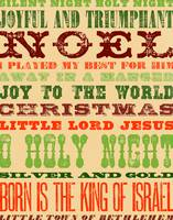 Christmas Word Collage (Religious)