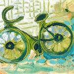 """""""A Bicycle Ride Downtown"""" by JENLO"""