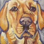 """Yellow Lab"" by Morianart"