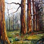 """Early Spring - Trees Painting by Ginette"" by GinetteCallaway"