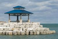 Gazebo on Lake Ontario