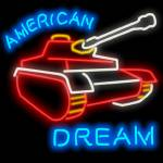 """American Dream neon sign (Tank Version)"" by nestorps"