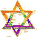 """Rainbow Star of David"" by refinish69"