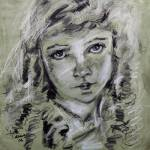 """Lillian Gish Charcoal & Conte Portrait by Ginette"" by GinetteCallaway"