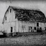 """Barn on the Hill B&W"" by Juliec21"