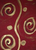 Red and Gold Swirls