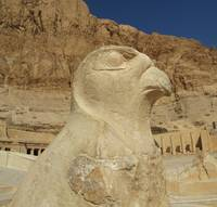 Statue of Horus as a falcon at Hatshepsut temple