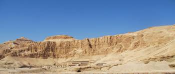 Hatshepsut Temple panoramic photograph