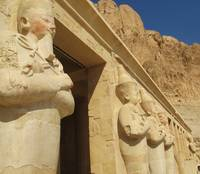 statues of Hatshepsut - Female Pharaoh of Egypt