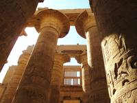 Pillars at Karnak in Thebes (Modern Luxor), Egypt