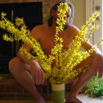 """Nude Man With Forsythia 1"" by auNaturale"
