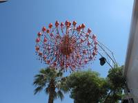 Red Chandelier, Crete, Greece