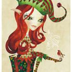 """Elfie Christmas Elf"" by sandygrafik_arts"