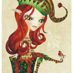 """Elfie Christmas Elf"" by sandygrafik_arts"