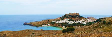Panoramic view of Lindos, Rhodes