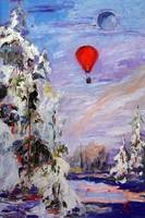 Fly Me To The Moon Oil Painting by Ginette