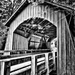 """Oregon covered bridge"" by dennisherzog"