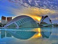 Sunset at the City of Arts and Sciences