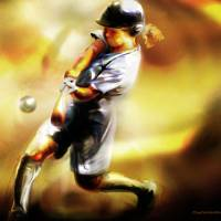 Women in Sports - Softball Art Prints & Posters by Mike Massengale