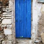 """BLUE DOOR Old Town of Chania, Crete"" by arttraveler"
